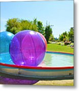 Bubble Ball 2 Metal Print