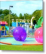 Bubble Ball 4   Metal Print