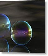 Bubble Bubble On The Water Metal Print