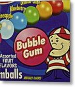 Bubble Gum Metal Print