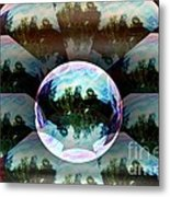 Bubble Illusion Catus 1 No 2 H Metal Print