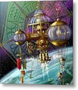 Bubble Telescope Metal Print