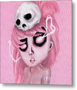 Bubblegum Pink Metal Print