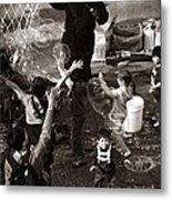 Bubbles And Kids - Central Park Sunday Metal Print