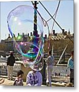 Bubbles Big Ben Metal Print