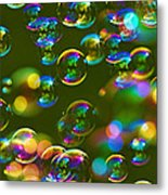Bubbles Bubbles And More Bubbles Metal Print