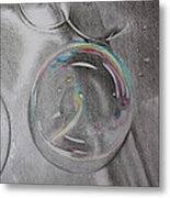 Bubbles In The Sink Metal Print