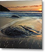 Bubbles On The Sand Metal Print by Mike  Dawson