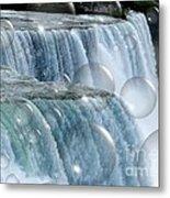 Bubbles Over Niagara Falls Metal Print