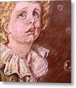 Bubbles Pastel Portrait Metal Print