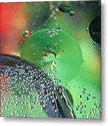 Bubbling Color Metal Print