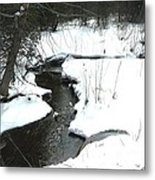 Bubbling Creek From Culvert In Spring Metal Print