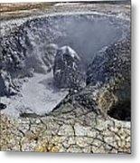 Bubbling Mud Pool At Hverir In Iceland Metal Print