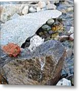 Bubbling Rock Metal Print