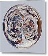 Bubbly Orb Metal Print