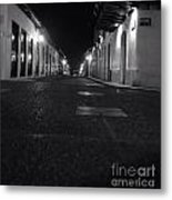 Bucaramanga Colombia  Street  Colonial Street Black And White Photography Metal Print