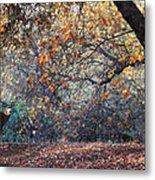 Buck And Fall Foliage Metal Print