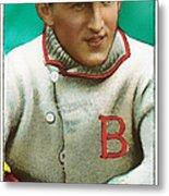 Buck Herzog Boston Braves Baseball Card 0500 Metal Print by Wingsdomain Art and Photography