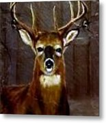 Buck On Slate  Metal Print