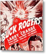 Buck Rogers, Bottom Larry Crabbe Metal Print