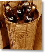 Bucket Of Iced Cold Coca Cola Metal Print
