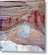 Buckhorn Wash Barrier Canyon Style Pictographs  Metal Print