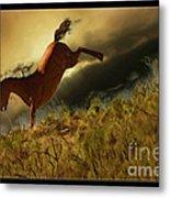 Bucking Horse Metal Print