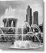 Buckingham Fountain - 1 Bw Metal Print