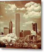 Buckingham Fountain In Chicago Metal Print