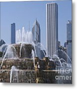 Buckingham Fountain Revisited Metal Print