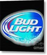 Bud Light Splash Metal Print