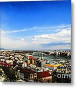 Budapest And Blue Danube Metal Print