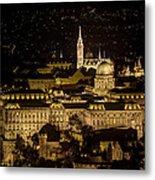 Budapest Castle Metal Print