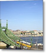 Budapest Cityscape And Liberty Bridge Metal Print