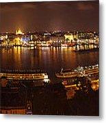 Budapest Night Panorama  Metal Print