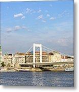 Budapest Skyline Metal Print