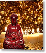 Buddha And Candles Metal Print by Olivier Le Queinec