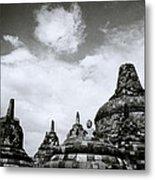 Buddha And Stupas Metal Print