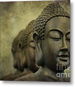 Buddha Bronze Metal Print