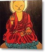 Buddha Cat Asian  Metal Print