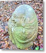 Buddha Looking Left Metal Print