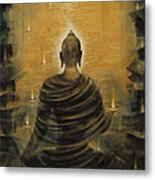 Buddha. Nirvana Ocean Metal Print by Vrindavan Das