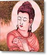 Buddha Red  Metal Print by Loganathan E