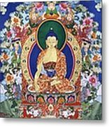 Buddha Shakyamuni And The Six Supports Metal Print