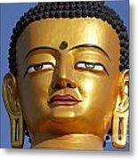 Buddha Statue At The Buddha Park In Kathmandu Nepal Metal Print