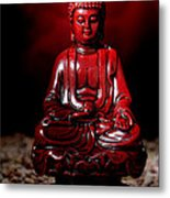 Buddha Statue Figurine Metal Print by Olivier Le Queinec