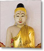 Buddha Statue In Thailand Temple Altar Metal Print