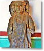 Ancient Buddha Statue - Albert Hall - Jaipur India Metal Print
