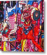 Buddhist Dancers 2 Metal Print