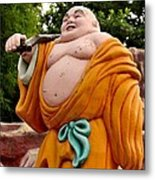 Buddhist Monk On Journey Haw Par Villas Singapore Metal Print